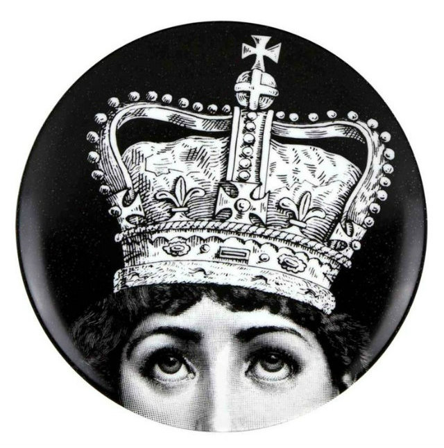 100 years of Inspiration by Fornasetti  100 years of Inspiration by Fornasetti Fornasetti Black White Lady Crown1