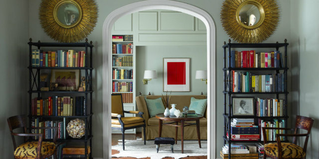 Library and bookshelves sun mirrors and black aimple bookshelves  Bookshelves as an Exceptional Decor Detail Library and bookshelves sun mirrors and black aimple bookshelves