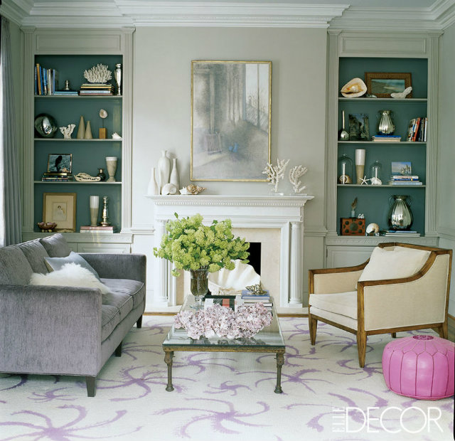 Bookshelves as an Exceptional Decor Detail  Bookshelves as an Exceptional Decor Detail Library bookshelves turquoise details white decorations
