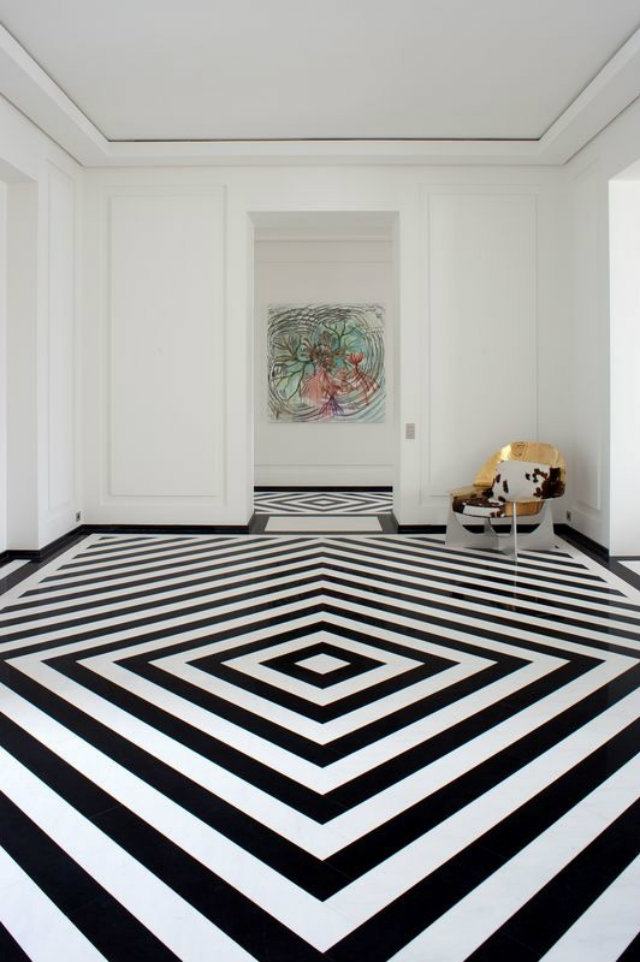Mind Your Step! Luxury Pattern Floors  Mind Your Step! Luxury Pattern Floors Patterned Floor stripes