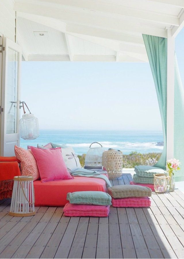 Ideas for your Outdoor Kingdom for Summer 2015  Ideas for your Outdoor Kingdom for Summer 2015 Summer Outood Kingdoms pastel colours pillows1