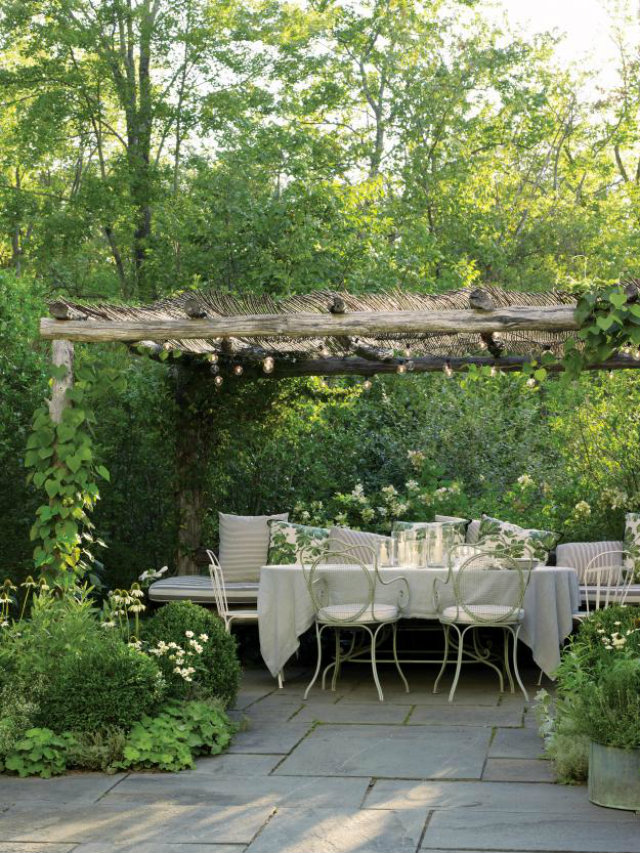 It's Time for Dinner Out! Summer Tables to die for.   It's Time for Dinner Out! Summer Tables to die for. Summer outdoor table nature coloures wrought chairs pillows natural fabrics