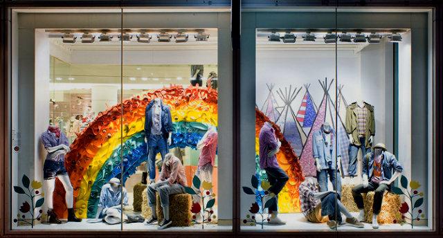 Summer WINDOW shopping? yes please  Summer WINDOW shopping? yes please Summer window GAP rainbow