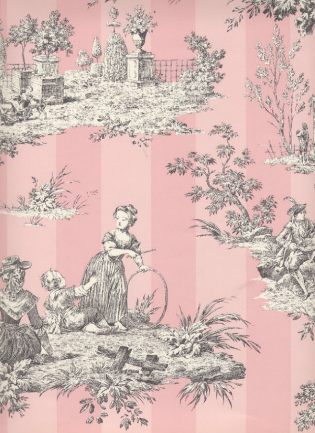 Classic vs. Modern Looks: the Toile de Jouy Revisited toile de jouy Classic vs. Modern Looks: the Toile de Jouy Revisited Toile de Jouy pink stripes grey drawing