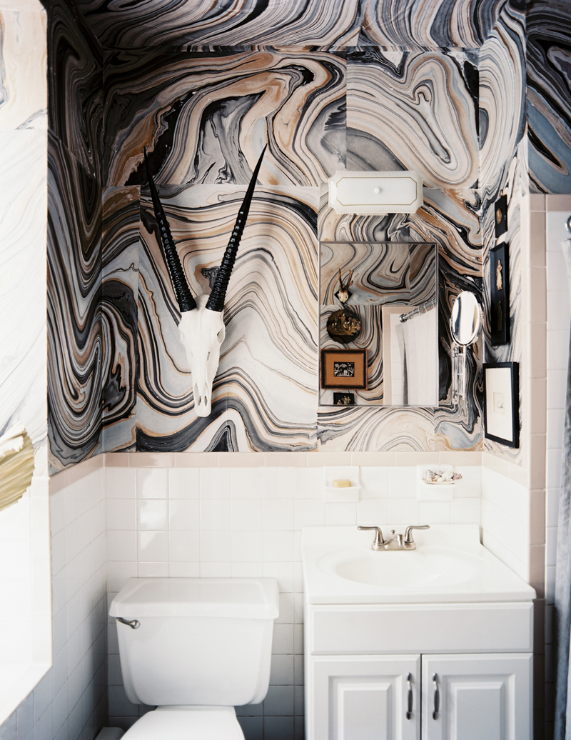 black-and-brown-wavy-marble  Perfect Marble Details and Ideas for Bathroom Designs black and brown wavy marble