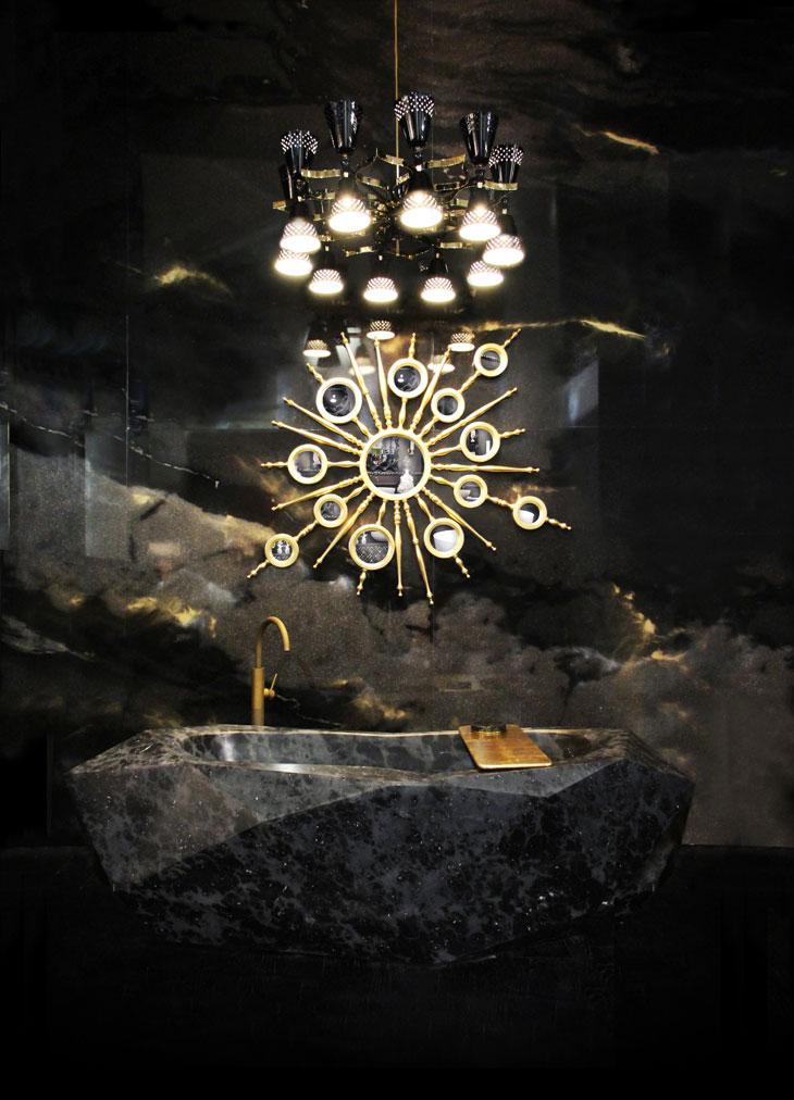 black-marble-bathroom-design  Perfect Marble Details and Ideas for Bathroom Designs black marble bathroom design