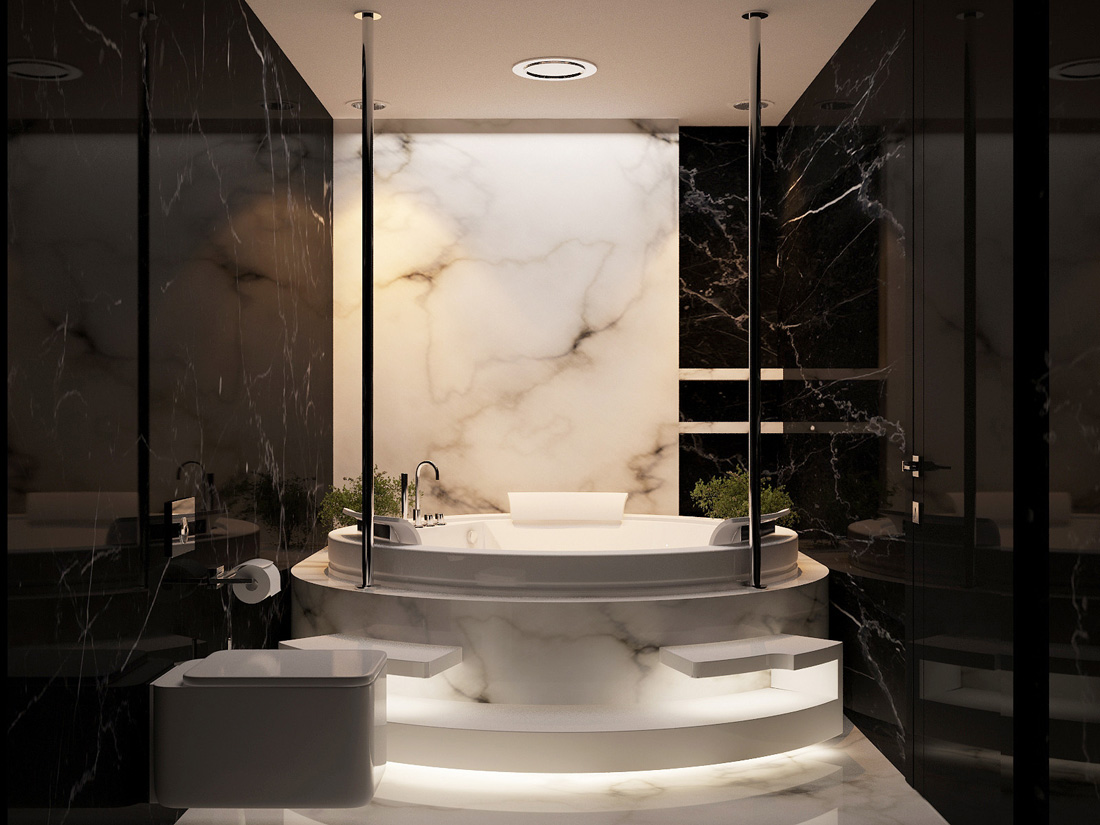 black-marble-walls  Perfect Marble Details and Ideas for Bathroom Designs black marble walls