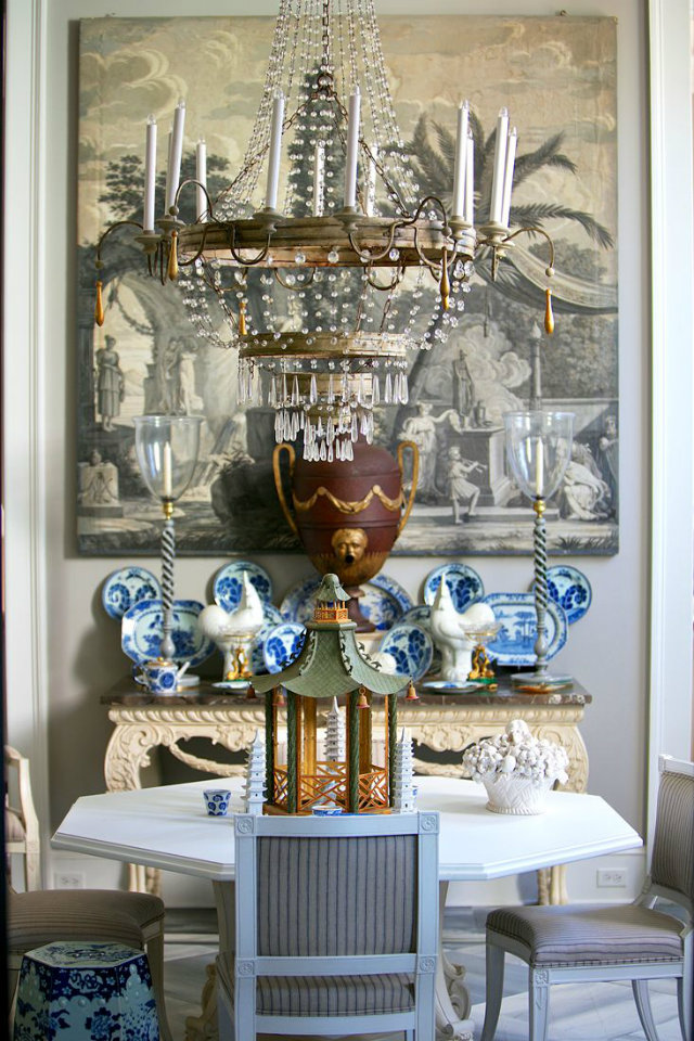 Hanging Light. The World of Chandeliers  Hanging Light Inspiration. The World of Chandeliers classic crystal chandelier over elegant dining table blue white china