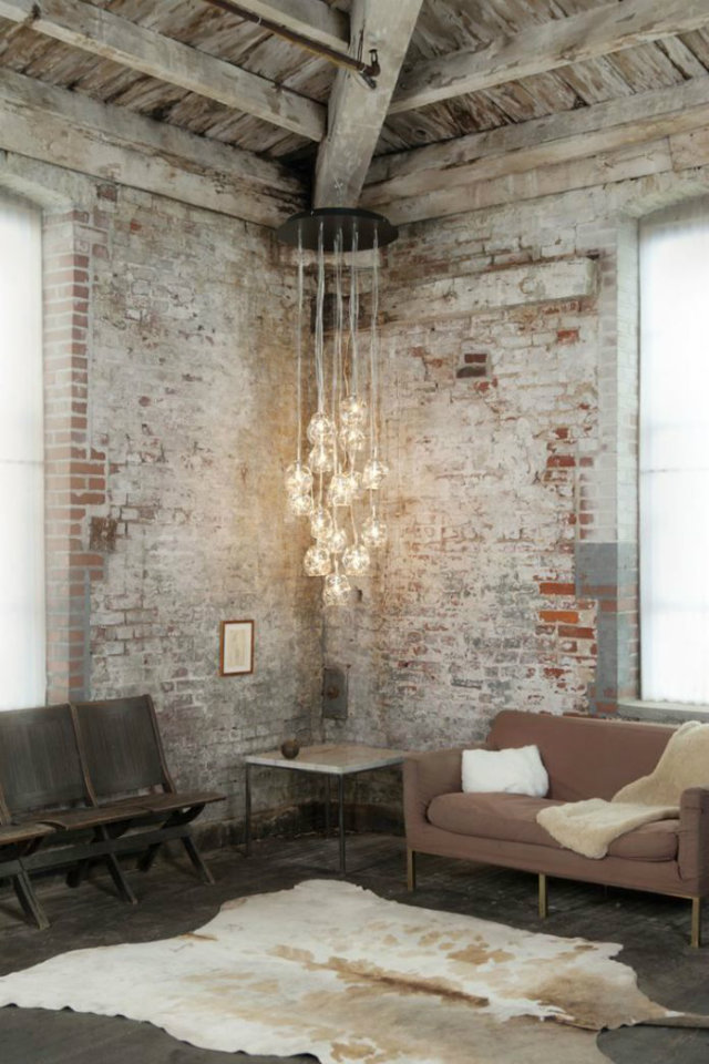 Hanging Light. The World of Chandeliers  Hanging Light Inspiration. The World of Chandeliers exposed bricks galss bubble lights