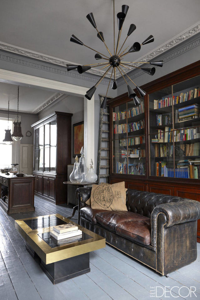 Bookshelves as an Exceptional Decor Detail  Bookshelves as an Exceptional Decor Detail library leather sofa vintage room
