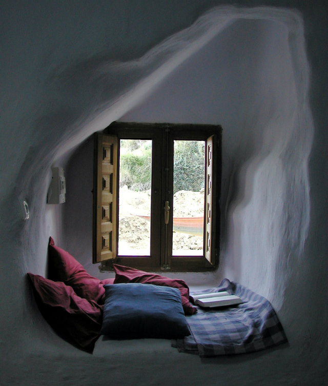 Your Secret Alcove Styles  Your Secret Alcove Styles secret alcove secret spaces white rock wall red pillow