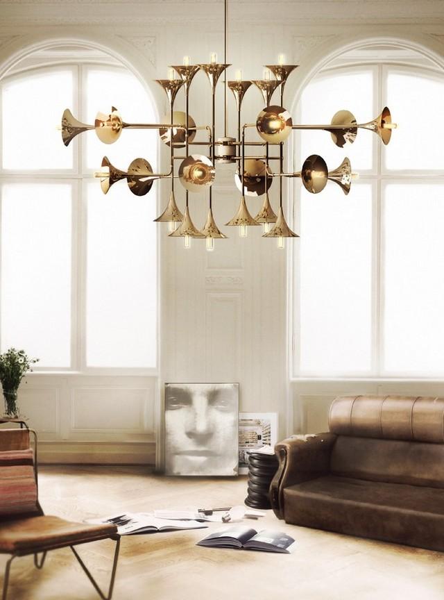 Hanging Light. The World of Chandeliers  Hanging Light Inspiration. The World of Chandeliers trumpet chandelier over living room