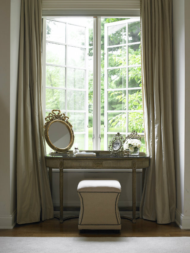 Dressing_table-small-golden-mirror-antique-look-big-curtains  Dressing Tables: Every Girl's Inspiration Dressing table small golden mirror antique look big curtains