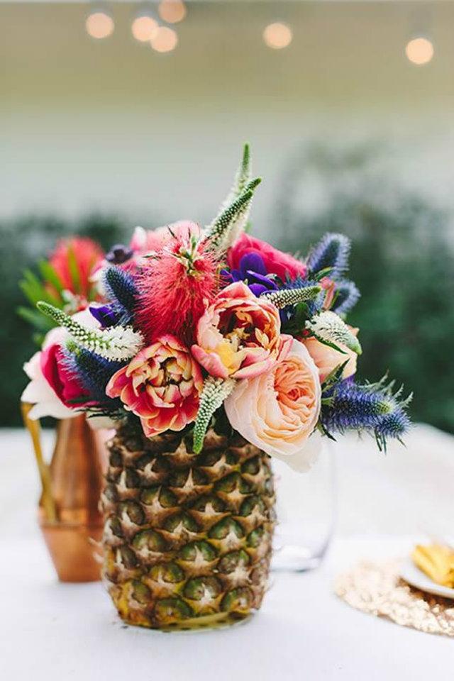 Mood Board: Summer Flower Color Inspiration home decor Mood Board: Summer Flowers Color Inspiration in Your Home Decor Flower Mood Board Pineapple Vase