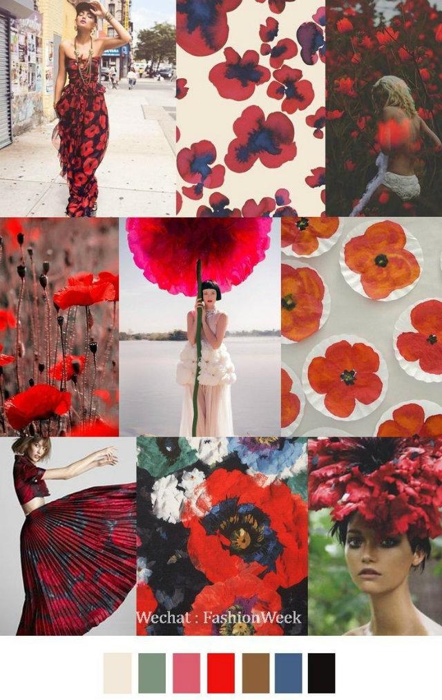 Mood Board: Summer Flower Color Inspiration home decor Mood Board: Summer Flowers Color Inspiration in Your Home Decor Flower Mood Board Red Poppies