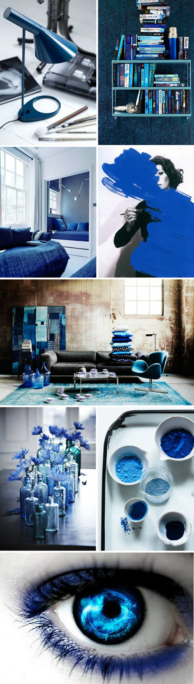 Ocean Deep Blue Mood Board  Deep Ocean Blue Mood Board Inspiration Mood Board Blue Books Lamps