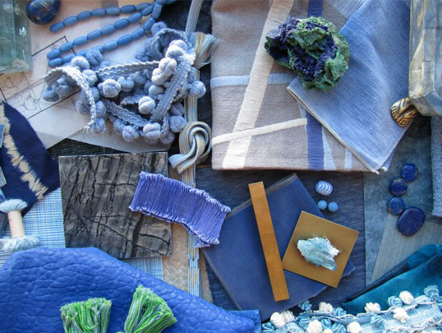 Ocean Deep Blue Mood Board  Deep Ocean Blue Mood Board Inspiration Mood Board Blue fabrics
