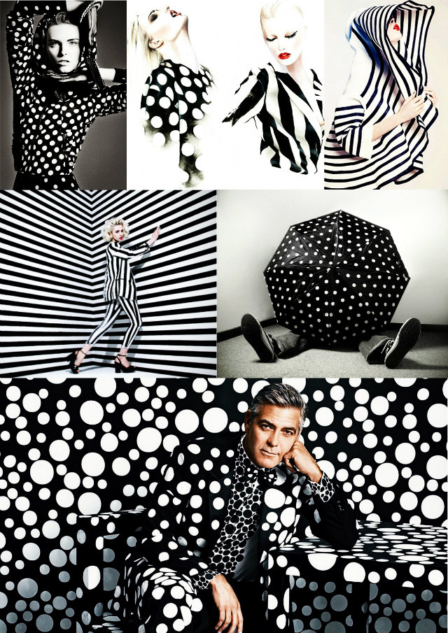 Polka-Dot Pattern Passion Mood Board Ideas Polka Dot black White Mood Board