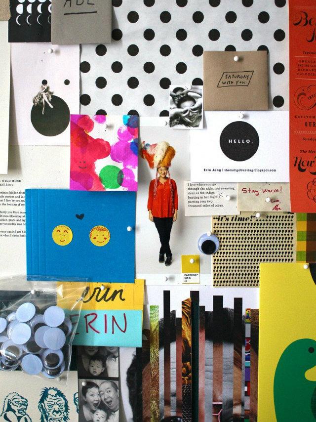 Polka-Dot-board-black  Polka-Dot Pattern Passion Mood Board Ideas Polka Dot board black
