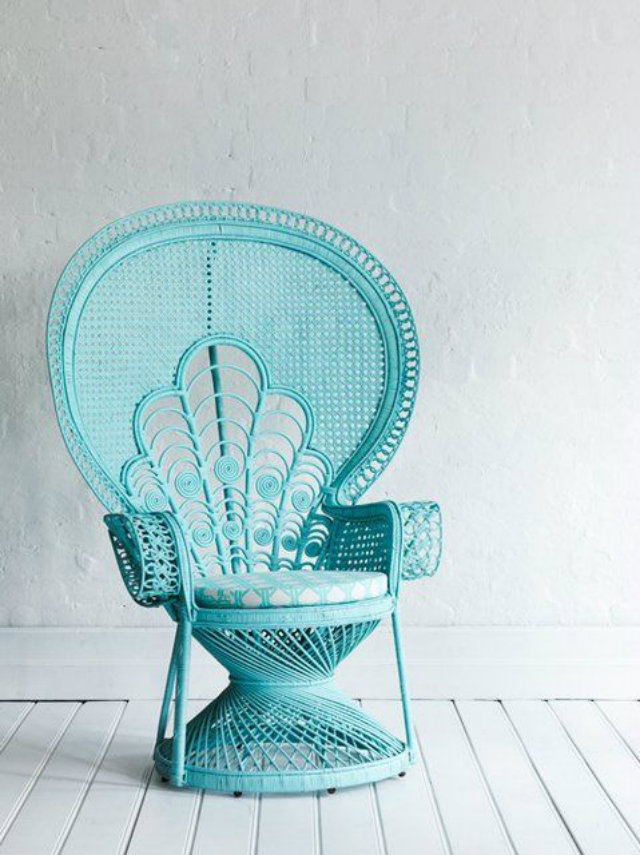 Ratan Furniture Ideas  Rattan Furniture Ideas Ratan Furniture baby blue armchair
