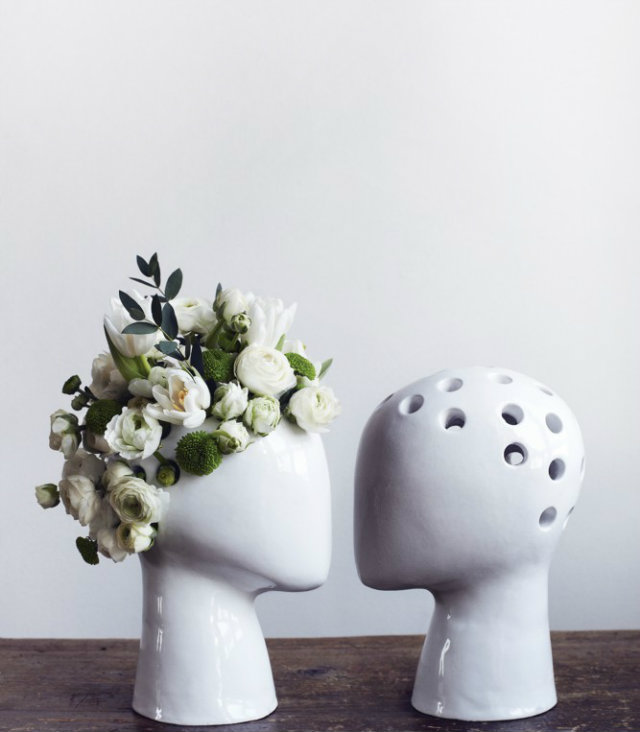 Vases: Amazing Decorative Motif  Vases: Amazing Decorative Ideas Vases faces hair flowers