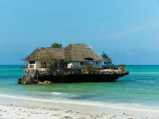 10 Amazing Waterfront Restaurants Around the World  10 Amazing Waterfront Restaurants Around the World Waterfront Restaurant The Rock Zanzibar