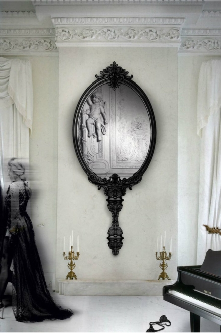 Large wall mirror – a big idea for wide ambiances