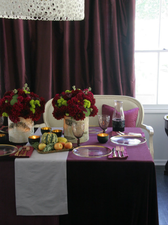 Brugundy THKSGVNG 11 thanksgiving color combinations Best Thanksgiving Color Combinations: Burgundy Table Setting Brugundy THKSGVNG 11