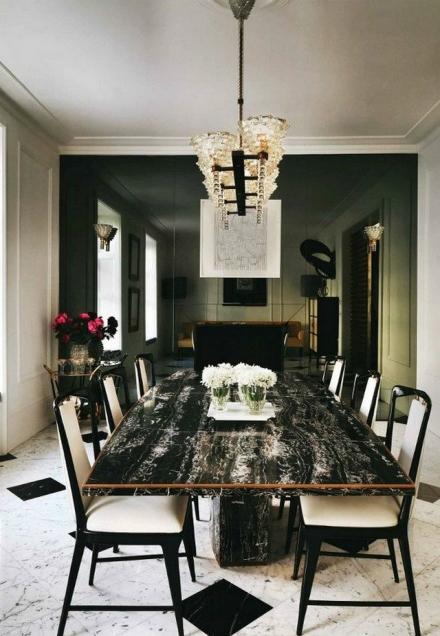 How to decorate Classical Dining Rooms with Carrara Marble?