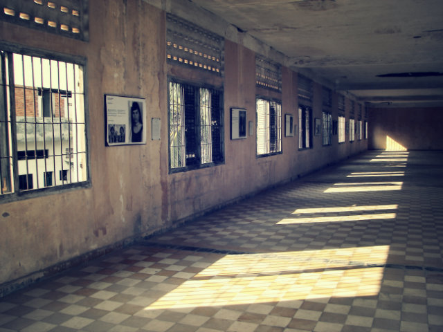 Tuol Sleng in Cambodia was used as a notorious Security Prison by the Khmer Rouge. It is believed to be haunted by the ghosts of those that were tortured and killed there.  haunted mansions Top 15 Haunted Mansions to Inspire Your Halloween Weekend HALLOWEEN 10 TUOL SLENG CAMBODIA