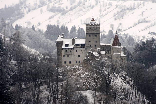Bran Castle in Romania, commonly known as Dracula's Castle.  haunted mansions Top 15 Haunted Mansions to Inspire Your Halloween Weekend HALLOWEEN 13 BRAN CASTLE ROMANIA