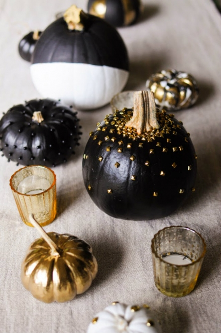 Halloween Color Schemes: Metal Details Ideas