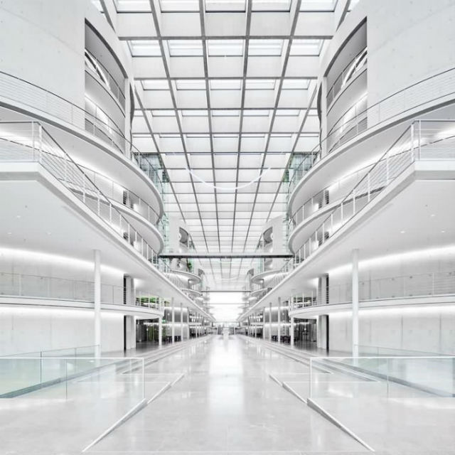 Inspiration off-white is the trend color for 2016 Inside the Paul Löbe Haus in the government district of Berlin Germany