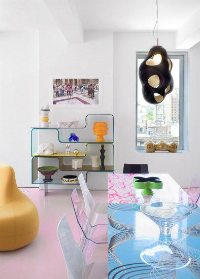 KLoft project Dining room detail karim rashid Inspirations by Top Designer Karim Rashid Karim Rashid Loft Project detail of the Dining Room