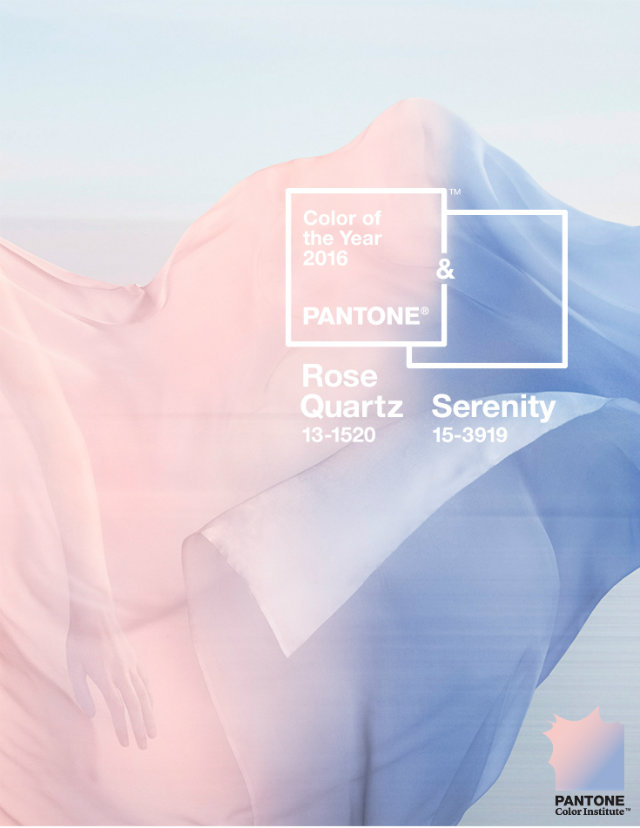 rose quartz and serenity Colour of the year 2016 Inspirations: Rose Quartz and Serenity Colour of the Year Quartz Rose and Serenity