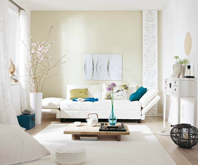 how to style a white sofa living room inspiration Living Room Inspiration : How To Style a White Sofa how to style a white sofa 4