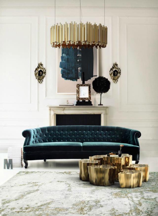 Living Room Inspiration Blue Sofa