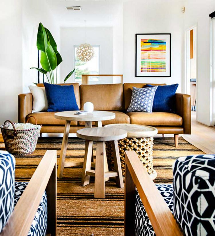 living room inspiration Living Room Inspiration: Tan Leather Sofa leather sofa 6