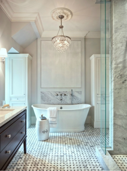 20 Impressive Marble Bathroom Interiors