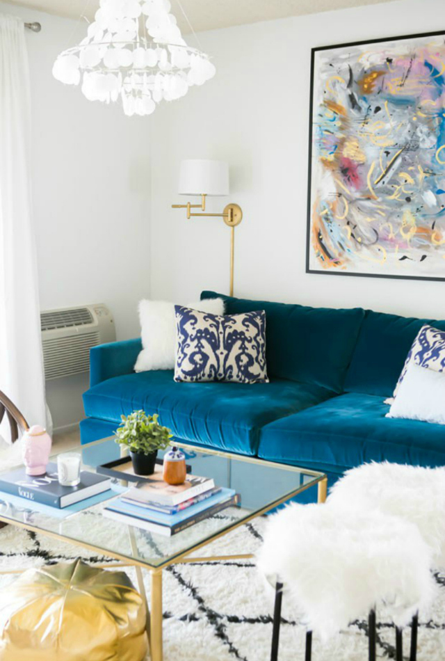 Living Room Inspiration Blue Sofa