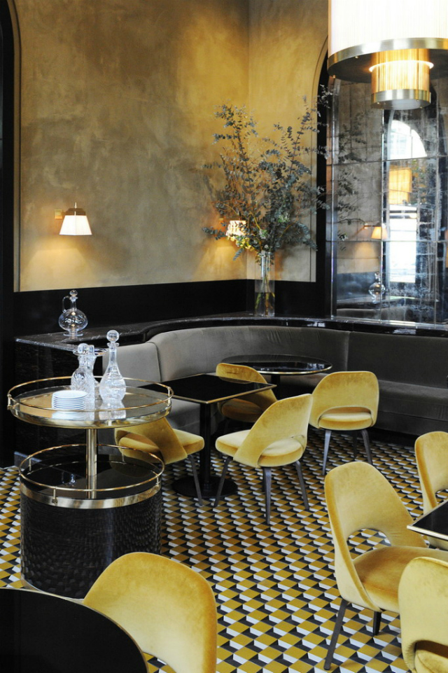 Restaurant interior ideas le flandrin paris for Deco resto