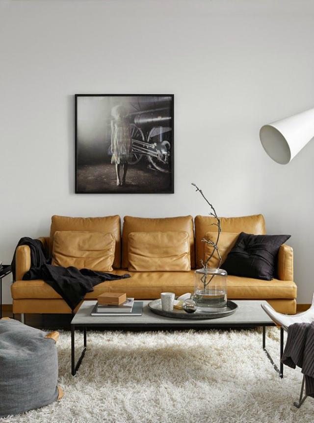 Tan Leather Sofa Living Room Inspiration
