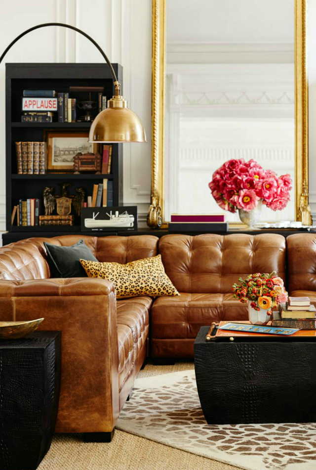 brown leather sofa living room inspiration Living Room Inspiration: Tan Leather Sofa tan leather sofa 61