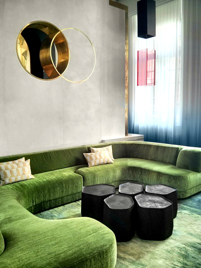 21 reasons to love a green sofa. Black Bedroom Furniture Sets. Home Design Ideas