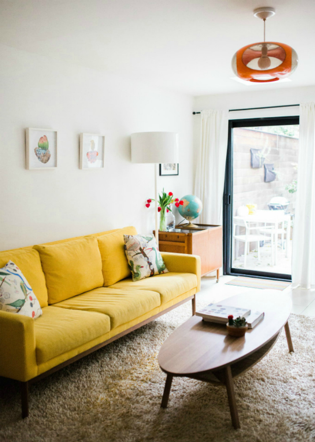 Living Room Ideas With A Yellow Sofa