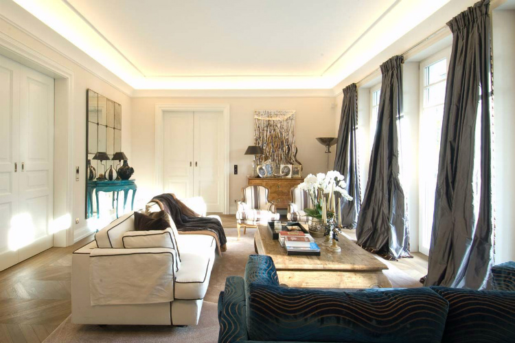 living rooms 35 STUNNING IDEAS FOR MODERN CLASSIC LIVING ROOMS 7a183acabdb57c85150ff3457eb30a00