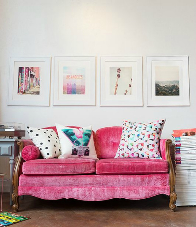 Ideas For Decorating Plush Pink Sofa Living Room: The Prettiest Living Room Ideas With A Pink Sofa