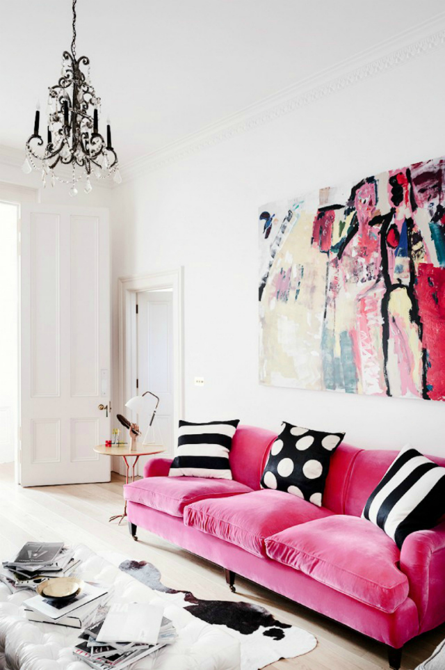 Pink Sofa Room Ideas