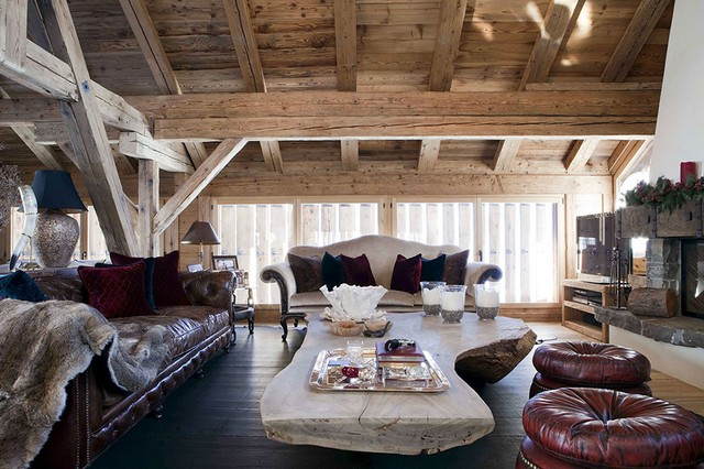 LONDON INTERIOR DESIGN2 decorating ideas The Most Sophisticated Decorating Ideas By Spinocchia Freund Chalet Gstaad 1