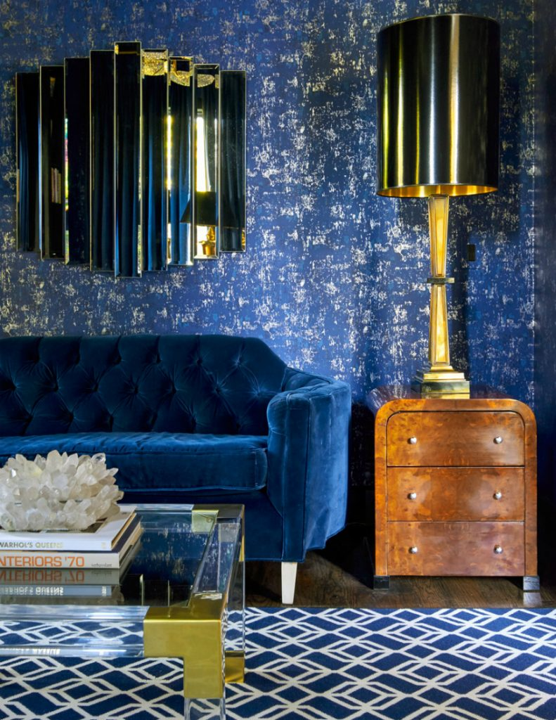 10 fabulous wallpapers that will spruce up your living - Unique living room wallpaper ...